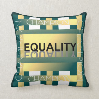 Champion for Equality Pillow - Green/Yellow/White