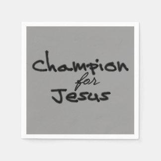 Champion for Jesus Disposable Napkin
