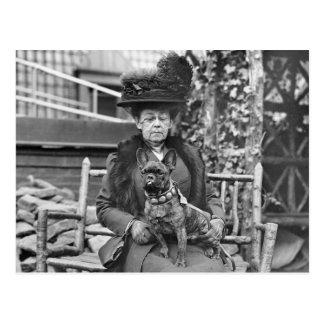 Champion French Bulldog, 1920s Postcard