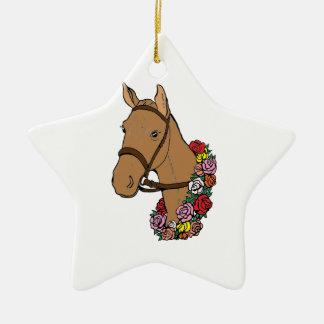 Champion Horse Ceramic Ornament