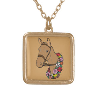 Champion Horse Gold Plated Necklace