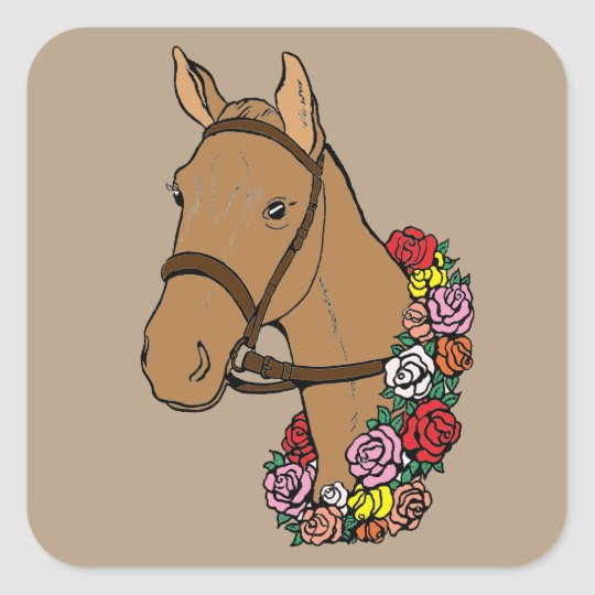 Champion Horse Square Sticker