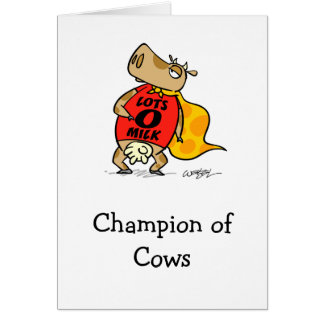 Champion of Cows Card