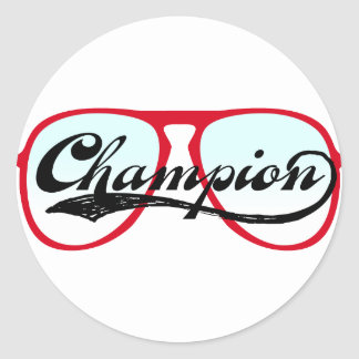Champion Round Sticker