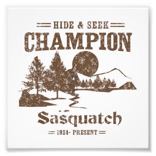 Champion Sasquatch de cache-cache Photos D'art