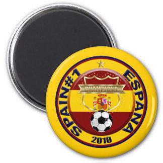 Champions 2010 du monde du football de l'Espagne Magnet Rond 8 Cm
