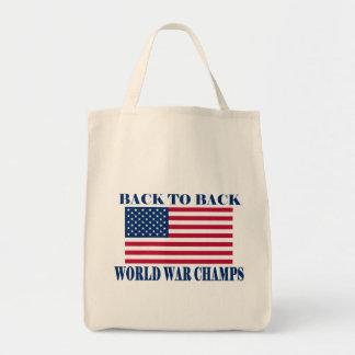 Champions incontestés de guerre mondiale, drapeau  sacs de toile