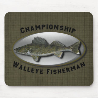 Championship Walleye Fisherman Mouse Pad