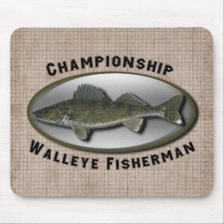 Championship Walleye Fisherman Mouse Pads