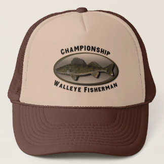 Championship Walleye Fisherman Trucker Hat