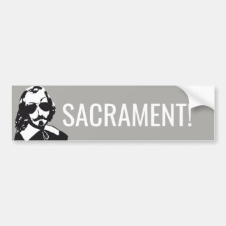 Champlain Hipster Quebec sacrament - YOUR TEXT Bumper Sticker