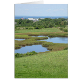 Champlin Road Meadow Block Island Card