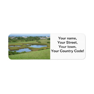 Champlin Road Meadow Block Island Return Address Label