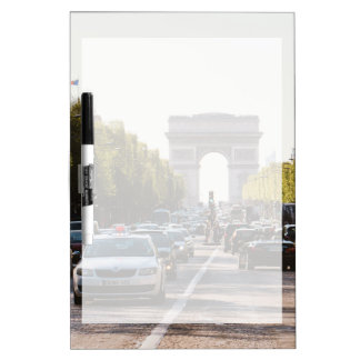 Champs Elysees and The Arc De Triomphe Dry Erase Board