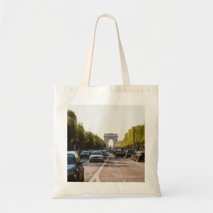 Champs Elysees and The Arc De Triomphe Tote Bag