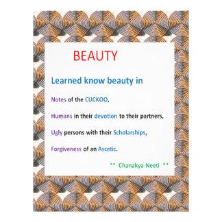 CHANAKYA Neeti:  Beauty darshan by Learned Letterhead Design