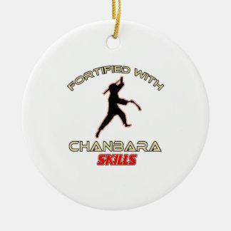 Chanbara Designs Round Ceramic Ornament