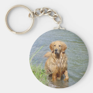 Chance ~ the Golden Retriever Keychain
