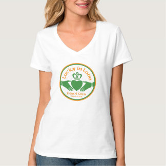 Chanceux dans épouser irlandais de Jour de la T-shirt