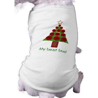 Chandail de chien - arbre de Noël de fleur Tee-shirt Pour Chien