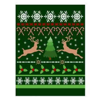 Chandail laid drôle de Noël Cartes Postales