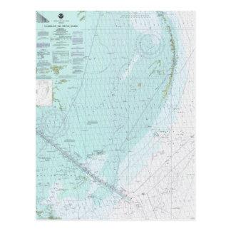 Chandeleur and Breton Sounds Nautical Chart Postc Postcard
