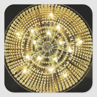 Chandelier Bling Square Stickers