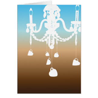 Chandelier card (sky coffee)