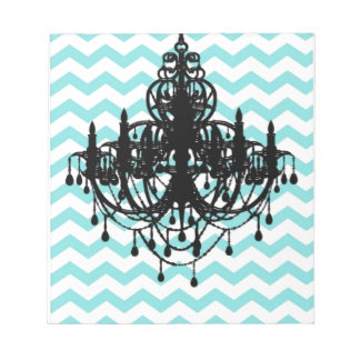 Chandelier Chevron Print Pattern Vintage Notepad