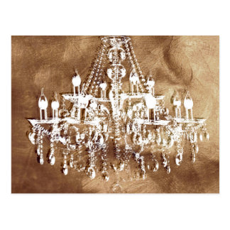 Chandelier Copper Chic Postcard