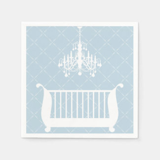 Chandelier Crib Baby Boy Shower Paper Napkins