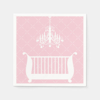 Chandelier Crib Baby Girl Shower Paper Napkins