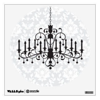 Chandelier Damask Wall Sticker