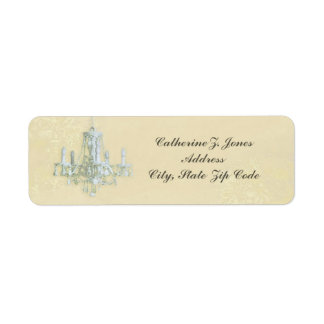 Chandelier Elegant Chic Address Label - Cream
