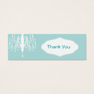 Chandelier Favor Tags
