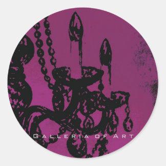 Chandelier Glamour ~ Round Stickers