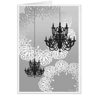 Chandelier Note Card_Mono Card