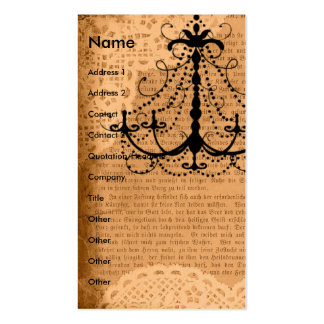Chandelier on Sepia Mixed Media Business Card Template