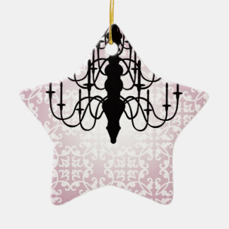 chandelier/pink ceramic ornament