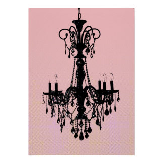 Chandelier Pink Posters