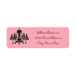 Chandelier Pink - Return Address Label