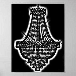 chandelier print