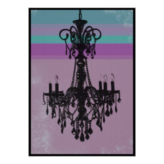Chandelier - Purple Grunge Poster