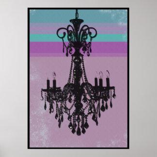 Chandelier - Purple Grunge Print