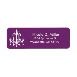 Chandelier Purple Return Label