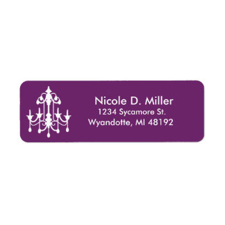 Chandelier Purple Return Label Return Address Label