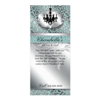 Chandelier Real Estate Spa Leopard Glitter Leaf Personalized Rack Card