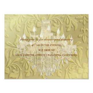 Chandelier,  reception cards