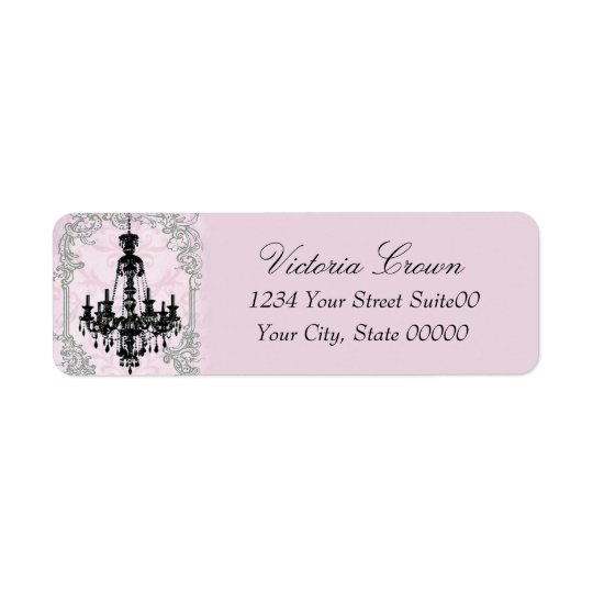 Chandelier Return Address Avery Label
