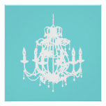 Chandelier silhouette wall art poster print